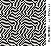 vector seamless pattern. modern ... | Shutterstock .eps vector #1345043798
