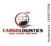 cargo logistics logo | Shutterstock .eps vector #1345073108