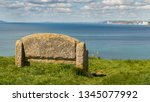 stone bench at the south west... | Shutterstock . vector #1345077992