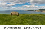 stone bench at the south west... | Shutterstock . vector #1345077995