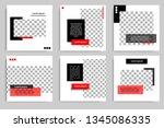 new set of editable minimal... | Shutterstock .eps vector #1345086335