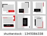 new set of editable minimal... | Shutterstock .eps vector #1345086338