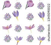 seamless pattern of single...   Shutterstock . vector #1345090022