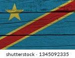 democratic republic of the... | Shutterstock . vector #1345092335