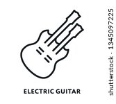 electric rock guitar bass.... | Shutterstock .eps vector #1345097225