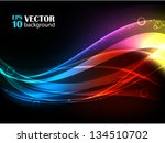 abstract vector background with ... | Shutterstock .eps vector #134510702