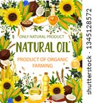 natural oil and cooking... | Shutterstock .eps vector #1345128572