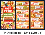 fastfood and street food vector ... | Shutterstock .eps vector #1345128575
