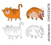 coloring pages for childrens... | Shutterstock .eps vector #1345133678