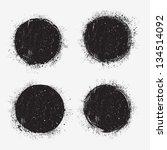 Set Of Grunge Circles