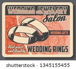 wedding rings bridal accessory... | Shutterstock .eps vector #1345155455
