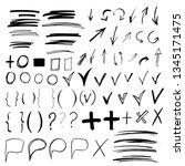 hand drawn sketch doodle arrows ...   Shutterstock .eps vector #1345171475