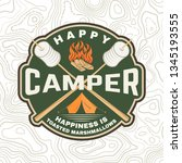 happy camper patch. happiness... | Shutterstock .eps vector #1345193555