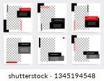 new set of editable minimal... | Shutterstock .eps vector #1345194548
