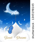 sleep time in moon night... | Shutterstock .eps vector #1345198145