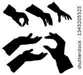 package silhouette 6 gesture... | Shutterstock .eps vector #1345205525