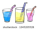 vector simple hand draw sketch  ... | Shutterstock .eps vector #1345205528