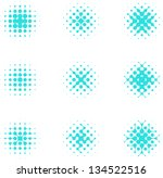 design halftone circle cell... | Shutterstock .eps vector #134522516