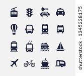 icon transport set. vector... | Shutterstock .eps vector #1345228175