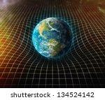 earth's gravity bends space... | Shutterstock . vector #134524142