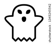 ghost icon vector illustration. ... | Shutterstock .eps vector #1345245542