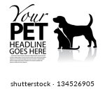 Stock photo dog and cat silhouette template eps vector grouped for easy editing no open shapes or paths 134526905