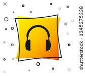 black headphones icon isolated...   Shutterstock .eps vector #1345275338