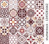 lisbon azulejos tile vector...   Shutterstock .eps vector #1345281662