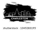 charleston west virginia city... | Shutterstock .eps vector #1345283195