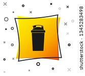 black fitness shaker icon... | Shutterstock .eps vector #1345283498