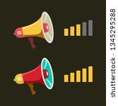 megaphone with volume level.... | Shutterstock .eps vector #1345295288