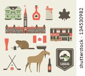 vector set of various stylized... | Shutterstock .eps vector #134530982
