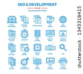 seo and app development. search ...   Shutterstock .eps vector #1345318415