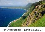 Sheer Sea Cliffs Of Kalaupapa...