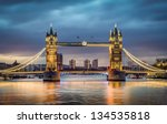 tower bridge withreflections in ...