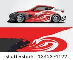 livery decal car vector  ... | Shutterstock .eps vector #1345374122