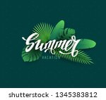 vector illustration with 3d... | Shutterstock .eps vector #1345383812