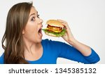 look of real hunger of young... | Shutterstock . vector #1345385132
