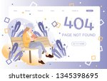 error page illustration... | Shutterstock .eps vector #1345398695