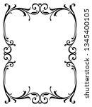 calligraphy penmanship curly...   Shutterstock . vector #1345400105