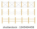 different designs of fence... | Shutterstock .eps vector #1345404458