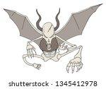 flying danger demon | Shutterstock .eps vector #1345412978