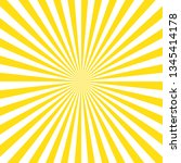 Yellow stripes sunrays background. Sunrays yellow color vector eps10 background.