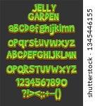 cartoon font   mobile game set