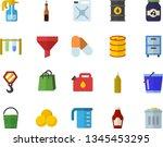 color flat icon set hook flat...   Shutterstock .eps vector #1345453295