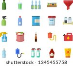color flat icon set spice flat...   Shutterstock .eps vector #1345455758