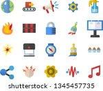 color flat icon set cogwheel...   Shutterstock .eps vector #1345457735