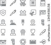 thin line icon set   vip vector ...   Shutterstock .eps vector #1345458158