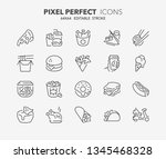 thin line icons set of fast... | Shutterstock .eps vector #1345468328