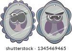 owl animal illustration | Shutterstock .eps vector #1345469465